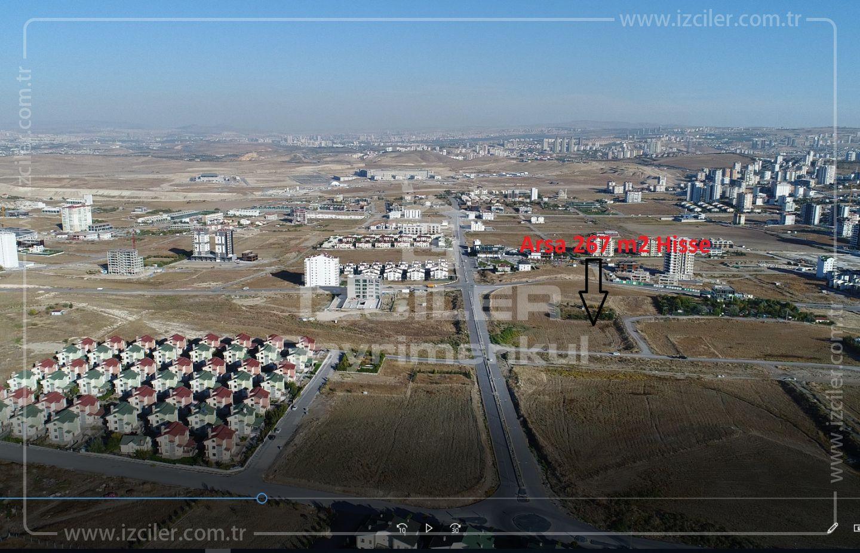 Bağlıca da Emsal 0,35 Satılık 267 m2 Uygun Arsa
