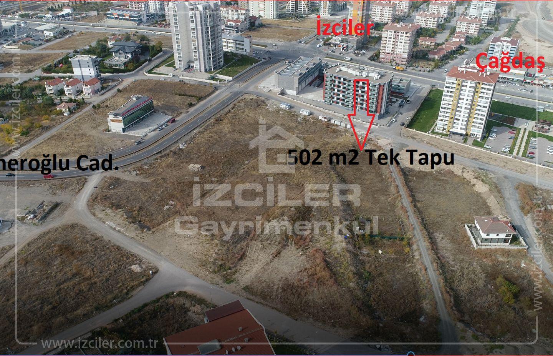 Bağlıca Merkezde Satılık 502 m2 Emsal 0,50 de Satılık Arsa