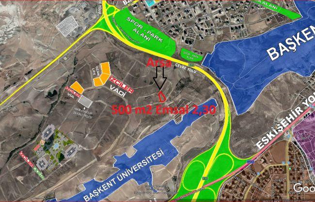 Bağlıca , Yapracık Emsal 2,30 da Satılık 500 m2 6 Dairelik Arsa
