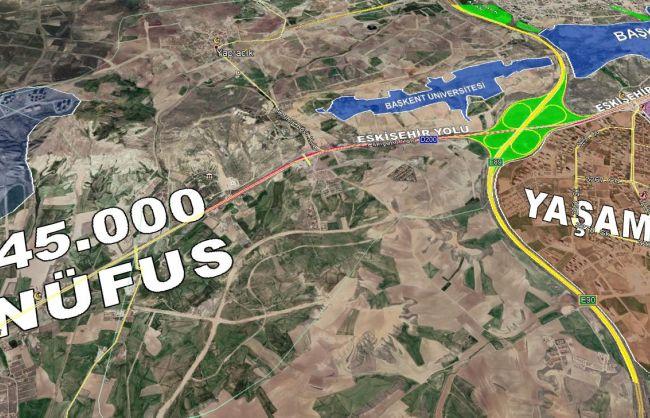 Aşağıyurtçu Atayurt da 50 Metrelik Bulvara Cephe 2225 m2 Arsa