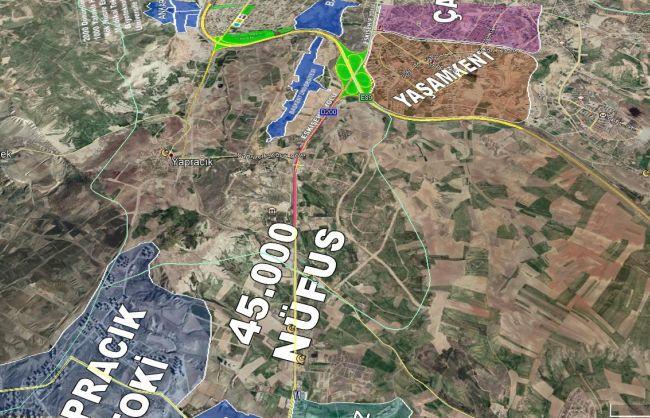 Yapracık Sol da Emsal 3,30 da Satılık 110 m2 Arsa